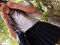 softcore asian student upskirt panty tease
