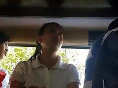 Boso sa jeep. HRM student...SARAP ng milky thong mo miss!