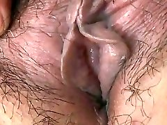 Japanese Grandmother shows Tits and Pussy