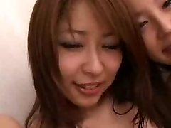 Japanese babes and Milky studs in group orgy
