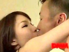 Maisaki Mikuni kiss and fuck session