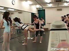 Dark haired Chinese bitch dancing ballet partFive