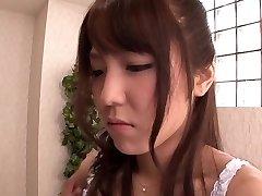 Exotic Japanese female Kokoro Maki in Hottest rimming, couple JAV gig