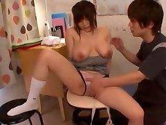 Greatest Asian whore Yui Serizawa in Crazy Cunnilingus, Babysitters JAV clip