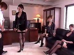 Kinky Japanese chick Leila Aisaki, Akari Hoshino, Risa Murakami in Super-naughty Underwear, Fetish JAV movie