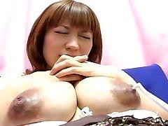 Yui Aihara - Toothbrush Nipple Play Cute Japanese Preggo