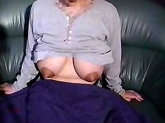 Mom's giant lactating orbs need relief 12