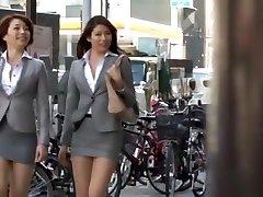 Wild Japanese model Azusa Maki, Kaede Imamura, Makina Kataoka in Hottest Compilation, Voyeur JAV vid