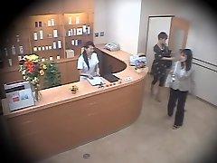Two cute Asians screwed hard in spycam massage movie