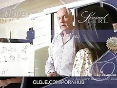 Cute Asian student gets an A for older teacher fuck and cum swallow