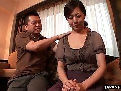 Chesty Japanese lady Juri Sawada gets her wet pussy masturbated well