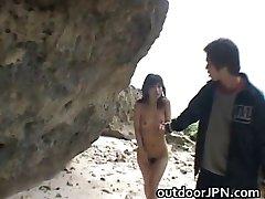 Super hot Japanese babes doing weird romp