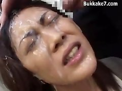 Asian Secretary Bondage Bukkake