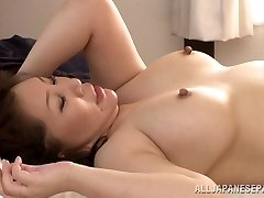 Hot mature Japanese babe Wako Anto likes posture 69
