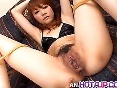 Saki Tachibana bound gets sex toys in donk