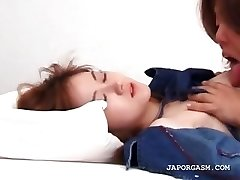 Asian redhead lovemaking doll gets her sexy body licked