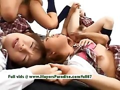 Nubile japanese models have joy with an orgy