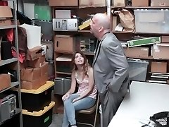 Shoplyfter - Lovely Nubile Caught And Fucked While Dad Watches