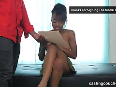 CastingCouchHD - Ebony teen will lick ass to be in a rap video