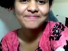 Desi 20y old college maal thirsty for 12 inch desi Lund shows all moves tub