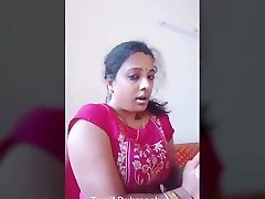 Dubmash Tamil by Tamil Aunty with demonstrating funbags