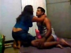 Desi Indian Wife Trio sum with Hubby and His