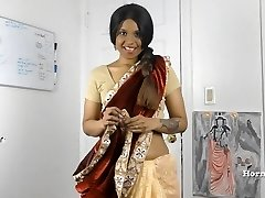 HornySouth Indian stepsister in law roleplay in Tamil with slaves
