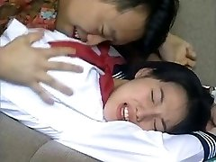 Chinese Teen Poke in Front of Parents Katlin.in