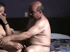 Indian prostitude girl penetrated by oldman in hotel bedroom.