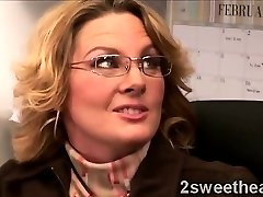 Good-sized stacked mature secretary trains her new sexy mate
