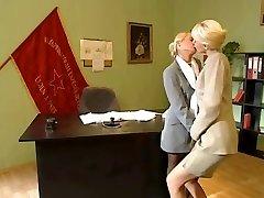 Ash-blonde Office Lesbians