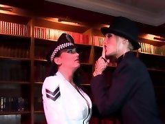 Radny biotch shoves a stick in policewoman's ass-hole
