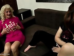 Grannies and moms fuck young lezzy meat