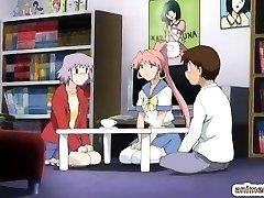 Anime coeds sapphic sex