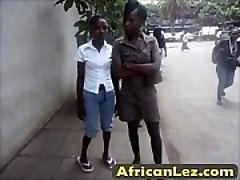Dirty ebony sluts having lesbo joy in bathroom