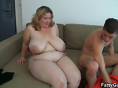 Hot BBW gets screwed on the couch