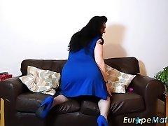EuropeMaturE Big-chested Damsel Sexy Underwear and Fun