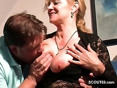 Monster Cock Step-Son Seduce Hot German Mommy to Fuck