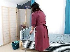 boy pulverize hairy mature maid