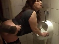 whore fuckin'  kathy in my local bar rest room