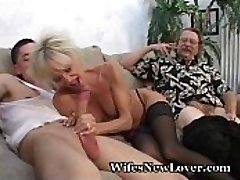 Elderly MILF Pleasured By Young Lover