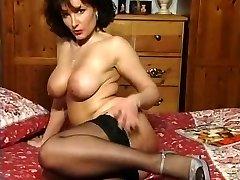 Hot Brunette Huge-chested Milf Teasing in various garments V SEXY!