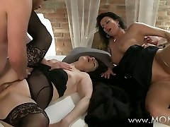 Mother Mature swingers take turns