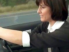 crazy mom stopped car to masturbate