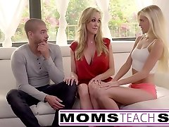 Moms Teach Sex - Big orb mommy catches daughter