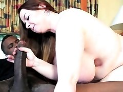 Thick White Chick Choking on a BBC