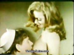 Girlfriend's Inhale Mouth Cumshot (1960s Vintage)
