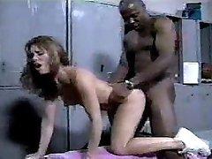 Black stud pokes cheerleader