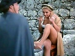 Costumed outdoor couple penetrating