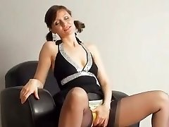 Kirsty Blue Faps With Her Panties On